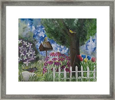 The Garden Framed Print by Barbara McNeil