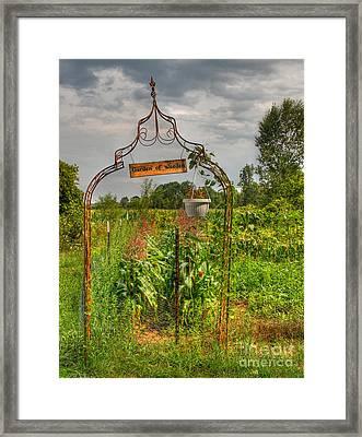 The Garden Of Weeden Framed Print by Robert Pearson