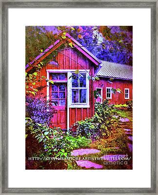 The Garden Path Framed Print by Kevyn Bashore