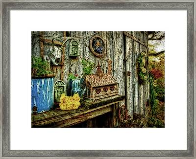 The Garden Shed Framed Print by Kathy Jennings