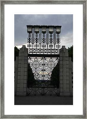 The Gate Framed Print by Nina Fosdick