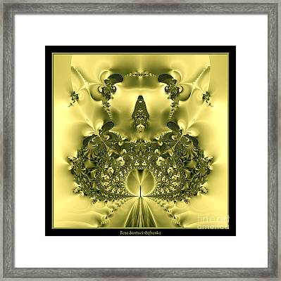 The Gates Of Heaven Fractal 66 Framed Print by Rose Santuci-Sofranko