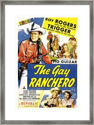 The Gay Ranchero, Roy Rogers, Trigger Framed Print by Everett