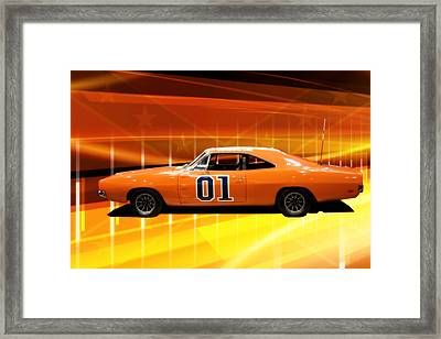 The General Lee Framed Print by Joel Witmeyer