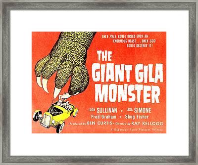 The Giant Gila Monster, Half-sheet Framed Print by Everett