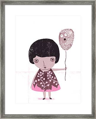The Gift Framed Print by Luciano Lozano