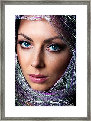 The Girl In The Head Scarf Framed Print by Mark Britten