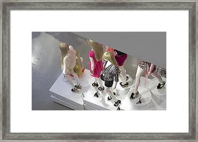 The Girls Framed Print by Lisa Plymell