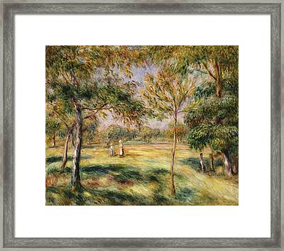 The Glade Framed Print by Pierre Auguste Renoir