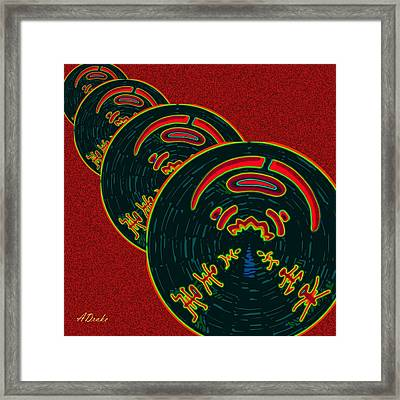 The God Of Fire Family Tree Framed Print by Alec Drake