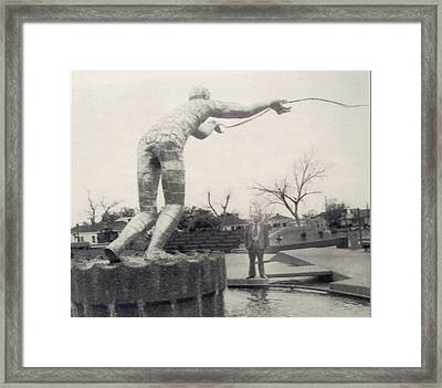 The Golden Fisherman Framed Print by De Beall