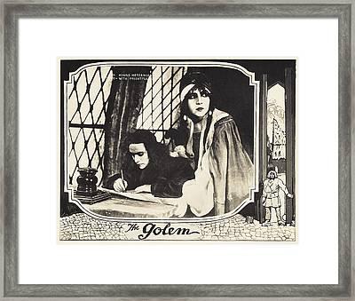 The Golem, Aka Der Golem, Wie Er In Die Framed Print by Everett