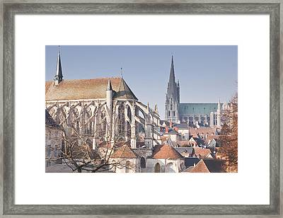 The Gothic Cathedral Of Chartres Framed Print by Julian Elliott Ethereal Light