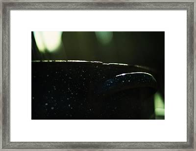 The Graniteware Stock Pot Framed Print by Rebecca Sherman