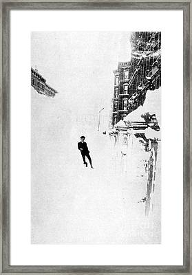 The Great Blizzard, Nyc, 1888 Framed Print by Science Source