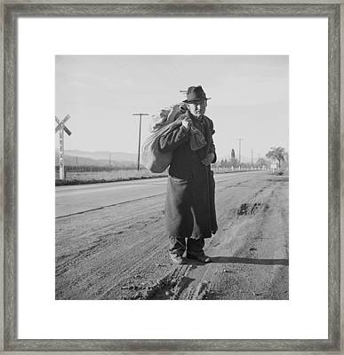 The Great Depression. Itinerant Worker Framed Print by Everett