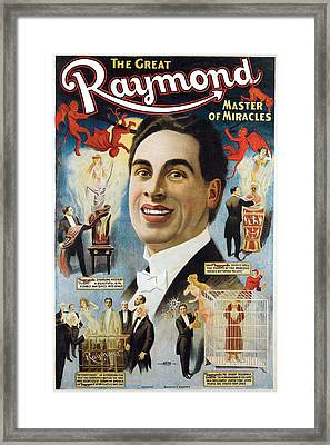 The Great Raymond Master Of Miracles Framed Print by Unknown
