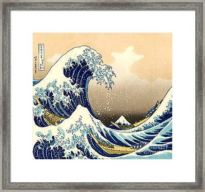 The Great Wave Framed Print by Pg Reproductions