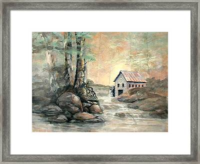 The Grist Mill Framed Print by Gary Partin