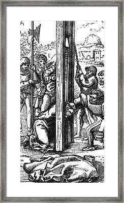 The Guillotine, 18th Century Framed Print by Science Source