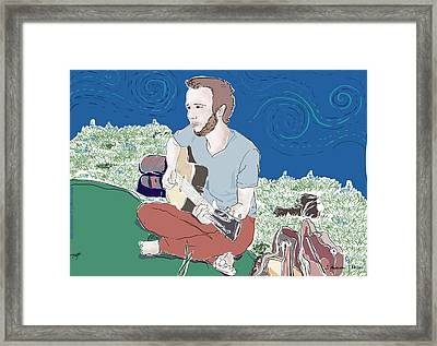 The Guitar Player Framed Print by Susie Morrison