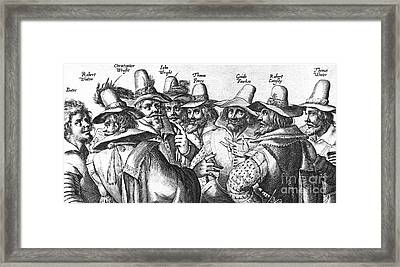 The Gunpowder Rebellion, 1605 Framed Print by Photo Researchers