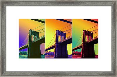 The Hardest Thing In Life To Learn Is Which Bridge To Cross  Framed Print by Jenn Bodro