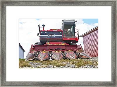 The Harvester Framed Print by Wayne Stabnaw