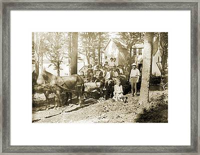 The Hayride Framed Print by Jan Faul
