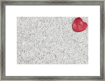 The Heart In The Sand Framed Print by Joana Kruse