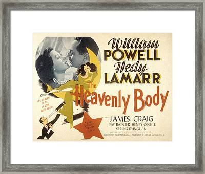 The Heavenly Body, Hedy Lamarr, William Framed Print by Everett