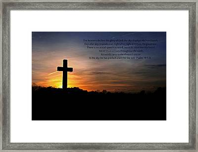 The Heavens Declare Framed Print by Benanne Stiens