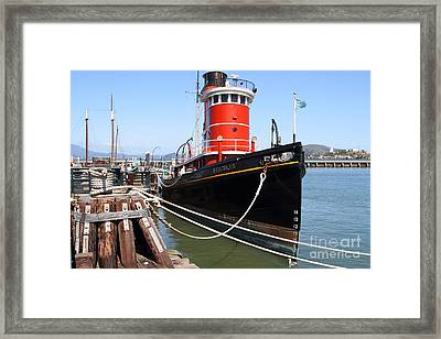 The Hercules . A 1907 Steam Tug Boat At The Hyde Street Pier In San Francisco California . 7d14137 Framed Print by Wingsdomain Art and Photography