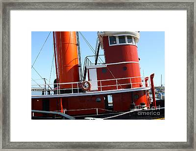 The Hercules . A 1907 Steam Tug Boat At The Hyde Street Pier In San Francisco California . 7d14143 Framed Print by Wingsdomain Art and Photography
