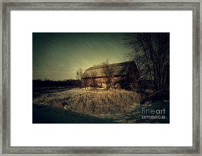The Hiding Barn Framed Print by Joel Witmeyer