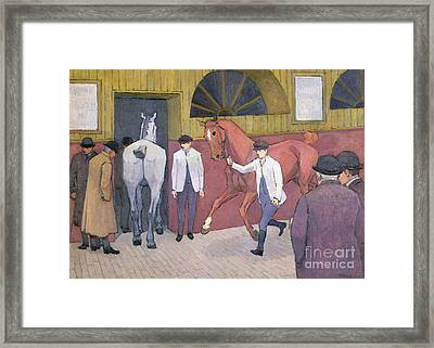 The Horse Mart  Framed Print by Robert Polhill Bevan