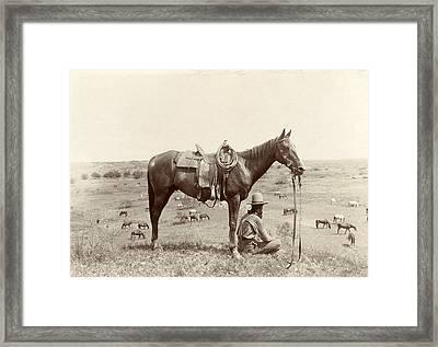 The Horse Wrangler, Photograph By Erwin Framed Print by Everett