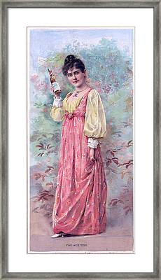 The Hostess Framed Print by Charles Shoup