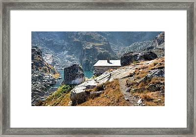 The House At The Lake Framed Print by Martin Marinov