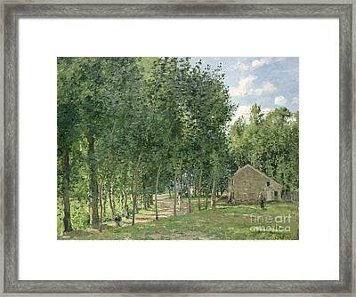 The House In The Forest Framed Print by Camille Pissarro
