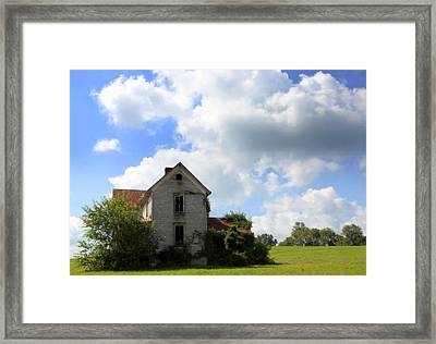 The House On The Hill Framed Print by Karen Wiles