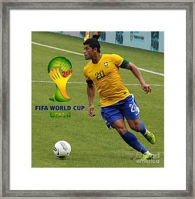 The Hulk Kicking Fifa 2014 Framed Print by Lee Dos Santos