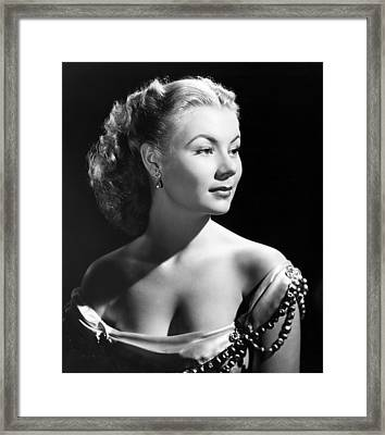 The I Dont Care Girl, Mitzi Gaynor Framed Print by Everett
