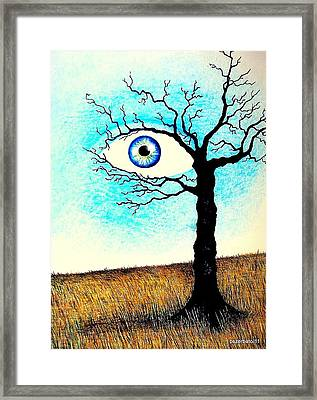 The Idea Continues To Act On The Image Framed Print by Paulo Zerbato