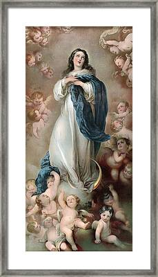 The Immaculate Conception, Depicting Framed Print by Everett
