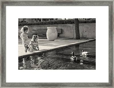The Innocence Of Youth Framed Print by Larry Marshall