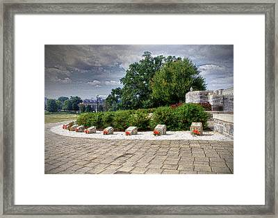 The Innocent Ones-virginia Tech Memorial Framed Print by Kathy Jennings