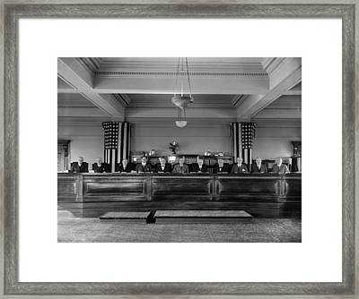 The Interstate Commerce Commission Framed Print by Everett