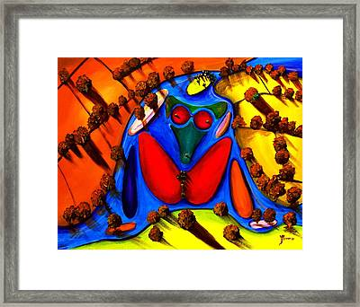 The Island Framed Print by Artist Singh