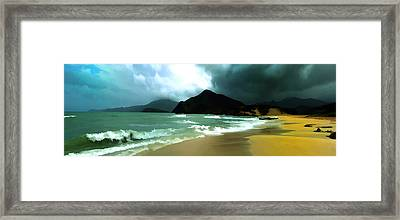 The Island Framed Print by Photography Art